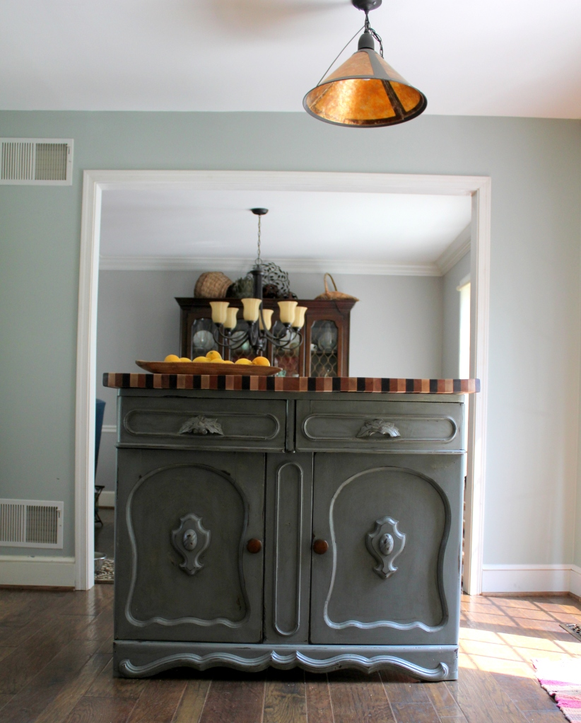 Kitchen Island Made From Antique Buffet: Kitchen Island From Antique Sideboard