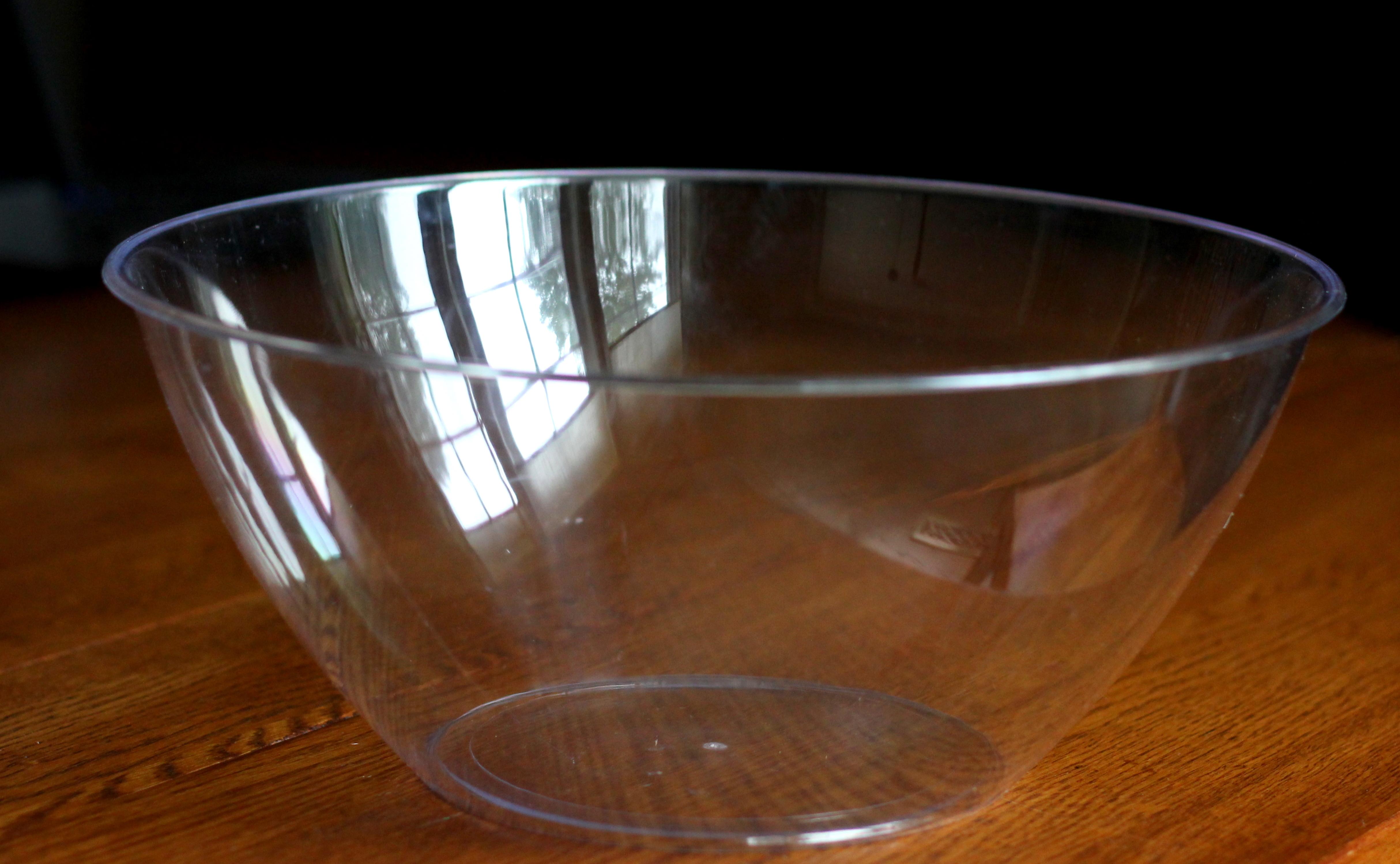 2 more tutorials gold leaf bowl appliques hart 39 s for Plastic fish bowls dollar tree